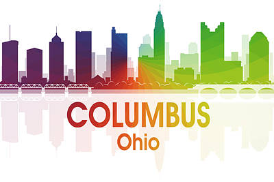 Digital Art - Columbus Oh  by Angelina Vick