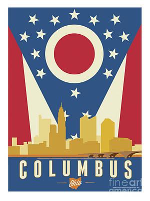 Columbus - Ohio Burgee Art Print by Buckland Gillespie