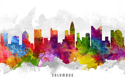 Columbus Ohio Cityscape 13 Art Print