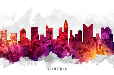 Columbus Ohio Cityscape 14 Art Print