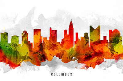 Columbus Ohio Cityscape 15 Art Print
