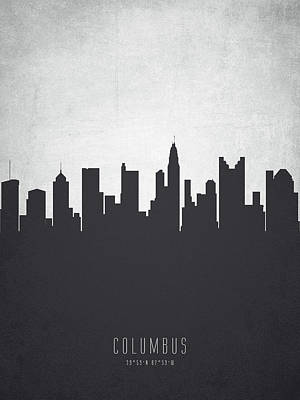 Ohio Painting - Columbus Ohio Cityscape 19 by Aged Pixel