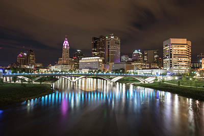 Photograph - Columbus Ohio Cityscape And River by John McGraw