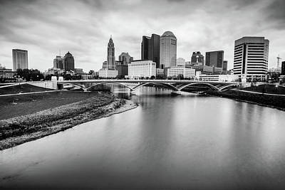 Photograph - Columbus Ohio Contrasted Monochrome by Gregory Ballos
