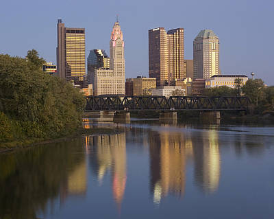 Photograph - Columbus Ohio Evening by Alan Raasch