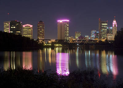Photograph - Columbus Ohio Night  by Alan Raasch