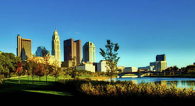 Photograph - Columbus Ohio Panorama by L O C