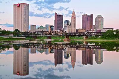 Columbus Ohio Reflects Art Print by Frozen in Time Fine Art Photography