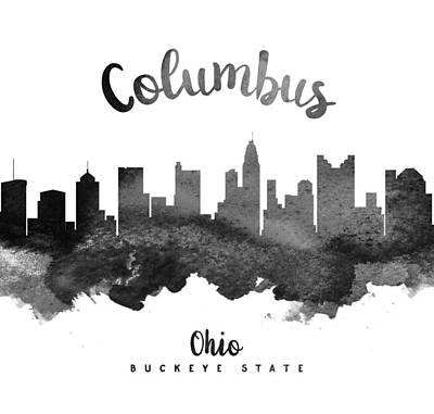 Ohio Painting - Columbus Ohio Skyline 18 by Aged Pixel