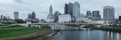 Photograph - Columbus Ohio Skyline At Dusk Panoramic by Gregory Ballos
