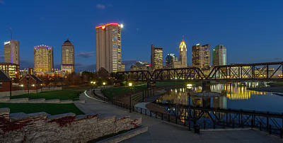 Photograph - Columbus Ohio Skyline At Dusk Panoramic by Scott McGuire