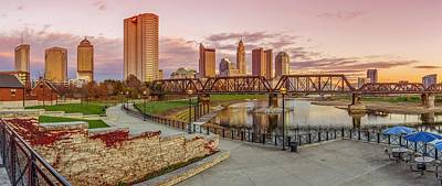 Photograph - Columbus Ohio Skyline At Sunset by Scott McGuire