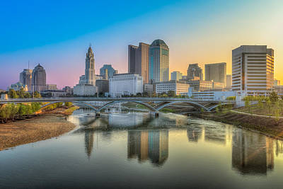 Photograph - Columbus Ohio Skyline by Keith Allen