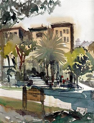 Painting - Columbus Park Bayshore Tampa by Gaston McKenzie