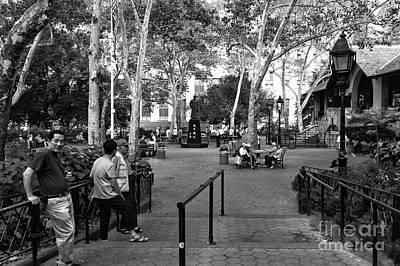 Photograph - Columbus Park Mono by John Rizzuto