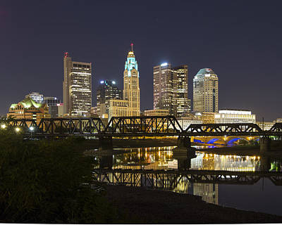 Photograph - Columbus Skyline 2 by Alan Raasch