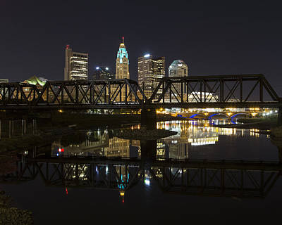 Photograph - Columbus Skyline by Alan Raasch