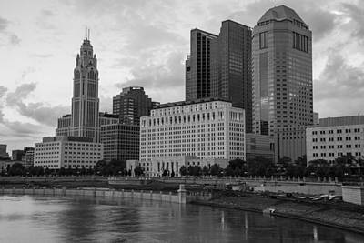 Photograph - Columbus Skyline And River by John McGraw