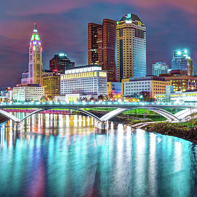 Photograph - Columbus Skyline Art - Square 1x1 by Gregory Ballos