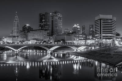 Photograph - Columbus Skyline Morning Twilight II by Clarence Holmes