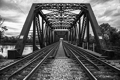 Photograph - Columbus Train Tracks And Bridge by John McGraw
