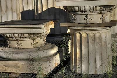 Fleur De Lis Photograph - Column Architectural Fleur De Lis  by Jane Linders