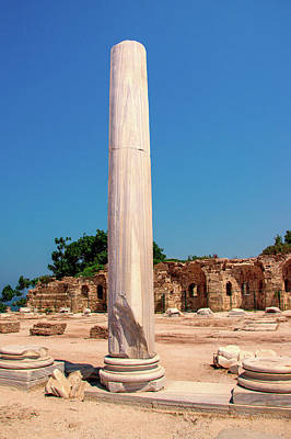 Photograph - Column At The Temple Of Apollo In Side by Sun Travels