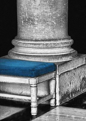 Photograph - Column - Bench - Versailles by Nikolyn McDonald
