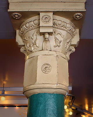 Photograph - Column - Main Arcade - Pike Place Market by Nikolyn McDonald
