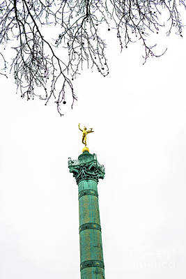 Column Of July. Bastille's Place. Paris. France. Art Print