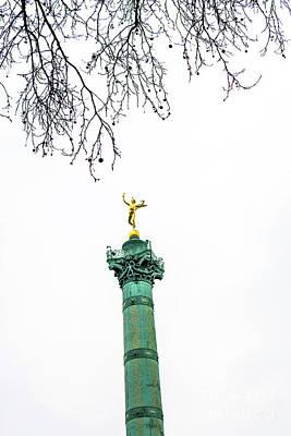 Column Of July. Bastille's Place. Paris. France. Art Print by Bernard Jaubert