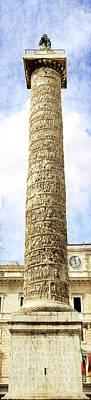 Photograph - Column Of Marcus Aurelius by Weston Westmoreland