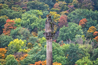 Photograph - Column With Pieta Statue - Prague by Stuart Litoff
