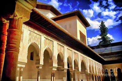 Photograph - Columns Alhambra by Rick Bragan
