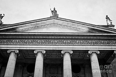 Postoffices Photograph - columns and portico of the gpo Dublin Republic of Ireland by Joe Fox