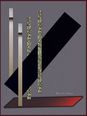 Digital Art - Columns And Spaces by Kae Cheatham