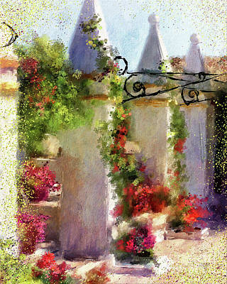 Digital Art - Columns At Corfu by Lois Bryan