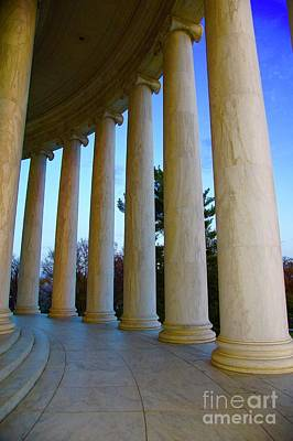 Washington Photograph - Columns At Jefferson by Megan Cohen