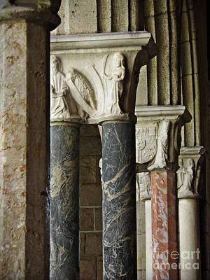 Photograph - Columns At The Cloisters 1   by Sarah Loft