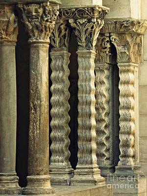 Photograph - Columns At The Cloisters 3     by Sarah Loft