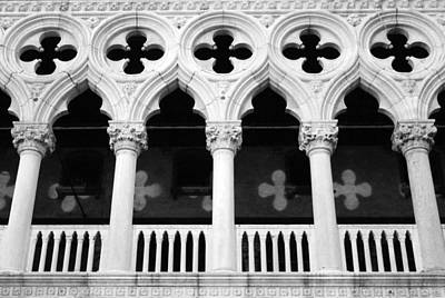 White Marble Photograph - Columns- By Linda Woods by Linda Woods