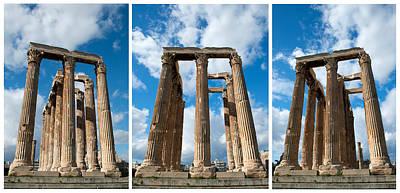 Photograph - Columns In Olympieion Athens by Radoslav Nedelchev
