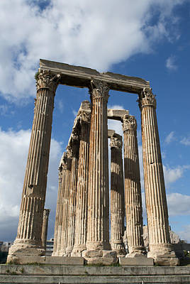 Photograph - Columns In Olympieion Greece Athens 1 by Radoslav Nedelchev