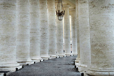 Photograph - Columns In St Peters Square Vatican City, Rome, Italy by Alexandre Rotenberg