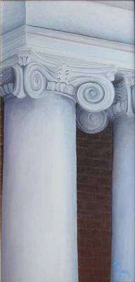Columns Of Davidson Hall Art Print by Mary Rogers