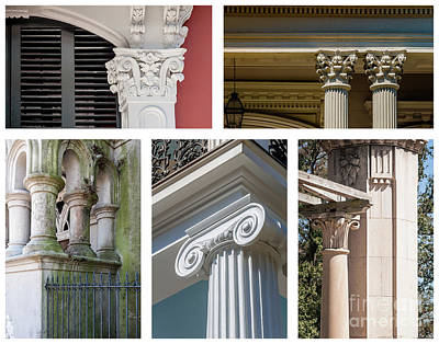 Photograph - Columns Of New Orleans Collage by Kathleen K Parker
