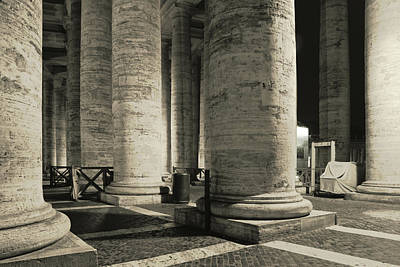 Photograph - Columns Of Vatican In The Night by Vlad Baciu