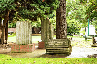 Photograph - Columns Of Wood And Stone by Tom Cochran