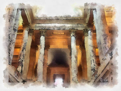 Columns Print by Paulette B Wright