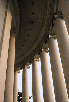 Columns Surround The Jefferson Statue Art Print